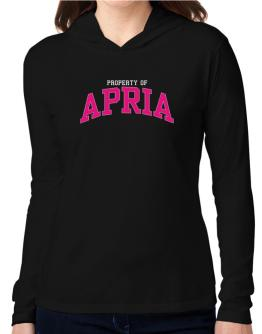 Property Of Apria Hooded Long Sleeve T-Shirt Women