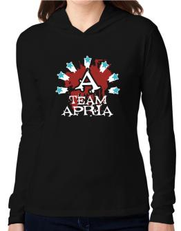 Team Apria - Initial Hooded Long Sleeve T-Shirt Women
