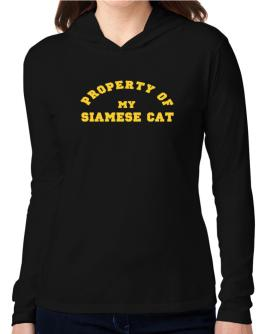 Property Of My Siamese Hooded Long Sleeve T-Shirt Women