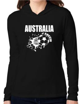 All Soccer Australia Hooded Long Sleeve T-Shirt Women