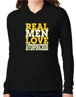 Real Men Love Affenpinschers Hooded Long Sleeve T-Shirt Women