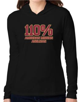 110% American Mission Anglican Hooded Long Sleeve T-Shirt Women