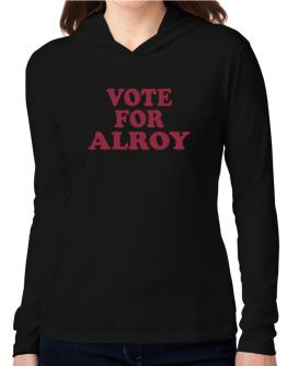 Vote For Alroy Hooded Long Sleeve T-Shirt Women