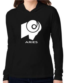Aries Astral Silhouette Hooded Long Sleeve T-Shirt Women