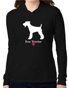 Fox Terrier love Hooded Long Sleeve T-Shirt Women