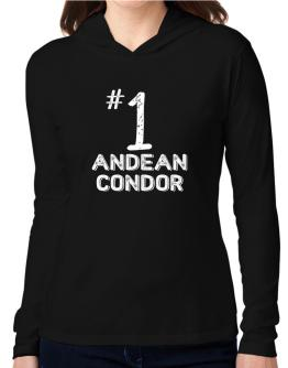 Number 1 Andean Condor Hooded Long Sleeve T-Shirt Women