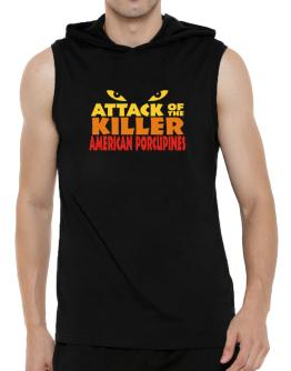 Attack Of The Killer American Porcupines Hooded Sleeveless T-Shirt - Mens
