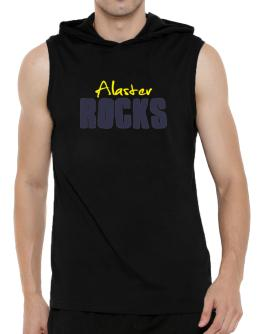 Alaster Rocks Hooded Sleeveless T-Shirt - Mens