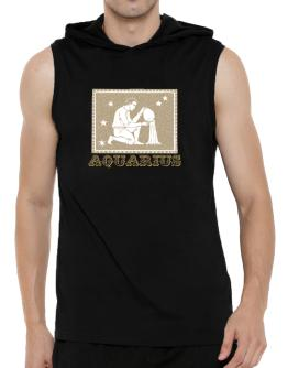 Aquarius Hooded Sleeveless T-Shirt - Mens