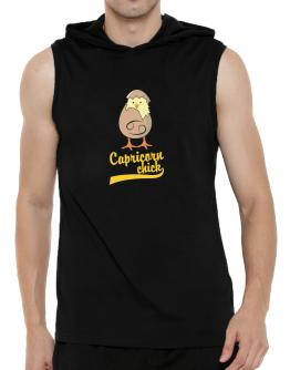 Capricorn Chick Hooded Sleeveless T-Shirt - Mens