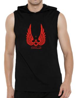 Acacallis - Wings Hooded Sleeveless T-Shirt - Mens