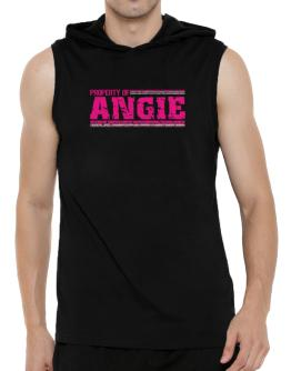 Property Of Angie - Vintage Hooded Sleeveless T-Shirt - Mens