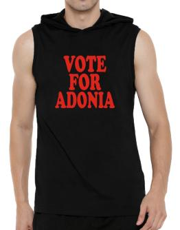 Vote For Adonia Hooded Sleeveless T-Shirt - Mens