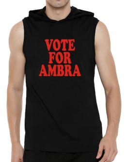 Vote For Ambra Hooded Sleeveless T-Shirt - Mens