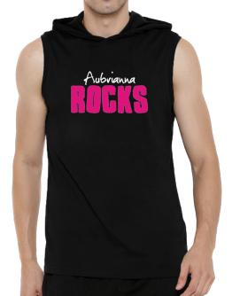 Aubrianna Rocks Hooded Sleeveless T-Shirt - Mens