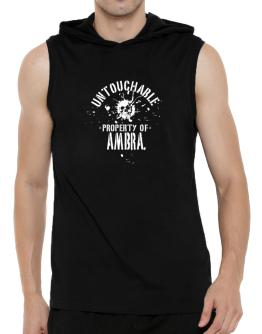 Untouchable Property Of Ambra - Skull Hooded Sleeveless T-Shirt - Mens