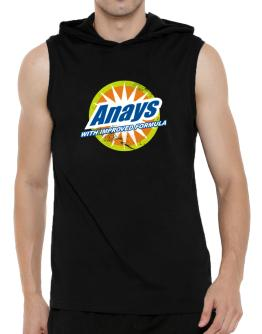 Anays - With Improved Formula Hooded Sleeveless T-Shirt - Mens
