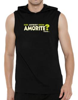 Does Anybody Know Amorite? Please... Hooded Sleeveless T-Shirt - Mens