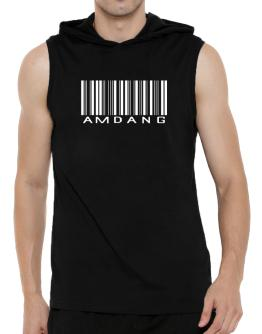 Amdang Barcode Hooded Sleeveless T-Shirt - Mens