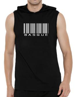 Basque Barcode Hooded Sleeveless T-Shirt - Mens