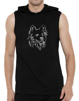""""""" Australian Cattle Dog FACE SPECIAL GRAPHIC """" Hooded Sleeveless T-Shirt - Mens"""