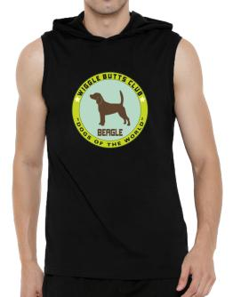 Beagle - Wiggle Butts Club Hooded Sleeveless T-Shirt - Mens