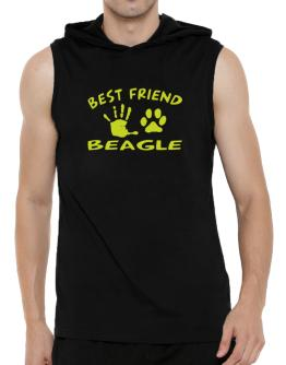 My Best Friend Is My Beagle Hooded Sleeveless T-Shirt - Mens
