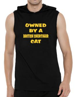 Owned By S British Shorthair Hooded Sleeveless T-Shirt - Mens