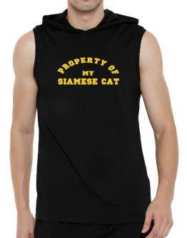 Property Of My Siamese Hooded Sleeveless T-Shirt - Mens