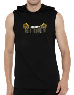 Bombay Cattitude Hooded Sleeveless T-Shirt - Mens