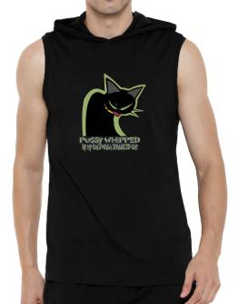 Pussy Whipped By My California Spangled Cat Hooded Sleeveless T-Shirt - Mens