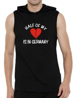 Half Of My Heart Is In Germany Hooded Sleeveless T-Shirt - Mens