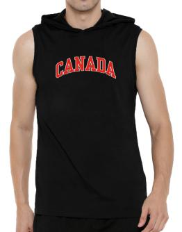 Canada - Simple Hooded Sleeveless T-Shirt - Mens