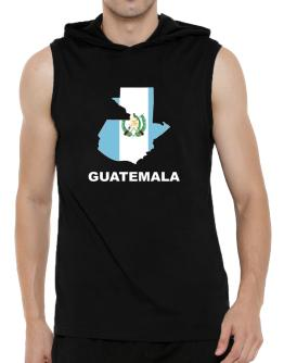 Guatemala - Country Map Color Hooded Sleeveless T-Shirt - Mens