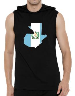 Guatemala - Country Map Color Simple Hooded Sleeveless T-Shirt - Mens