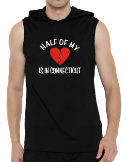 Half Of My Connecticut Hooded Sleeveless T-Shirt - Mens