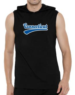Retro Connecticut Hooded Sleeveless T-Shirt - Mens