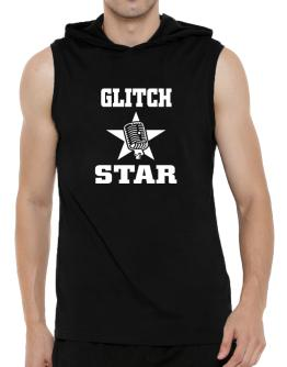 Glitch Star - Microphone Hooded Sleeveless T-Shirt - Mens