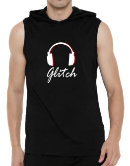Glitch - Headphones Hooded Sleeveless T-Shirt - Mens