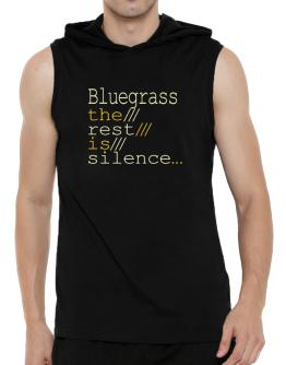 Bluegrass The Rest Is Silence... Hooded Sleeveless T-Shirt - Mens