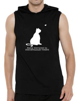 Easily Distracted By Subcontrabass Tubists Hooded Sleeveless T-Shirt - Mens