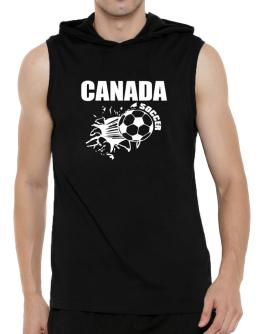 All Soccer Canada Hooded Sleeveless T-Shirt - Mens