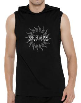 Abecedarian Attitude - Sun Hooded Sleeveless T-Shirt - Mens