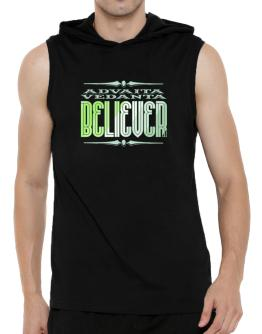 Advaita Vedanta Believer Hooded Sleeveless T-Shirt - Mens