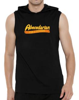 Abecedarian For A Reason Hooded Sleeveless T-Shirt - Mens