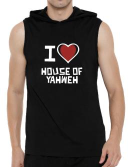 I Love House Of Yahweh Hooded Sleeveless T-Shirt - Mens