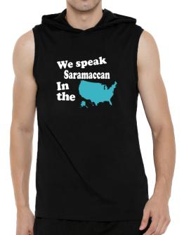 Saramaccan Is Spoken In The Us - Map Hooded Sleeveless T-Shirt - Mens