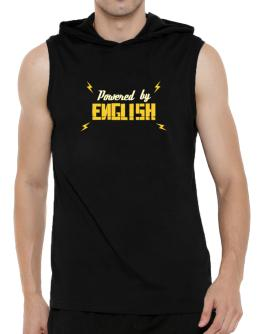 Powered By English Hooded Sleeveless T-Shirt - Mens