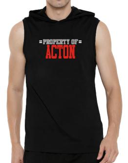 """"""" Property of Acton """" Hooded Sleeveless T-Shirt - Mens"""