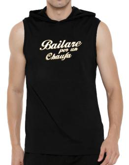 """ Bailare por un Ceviche "" Hooded Sleeveless T-Shirt - Mens"